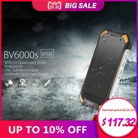 Водонепроницаемый IP68 Blackview BV6000s смартфон 2 + 16 ГБ 8.0MP мобильный телефон Android 7,0 4G 4,7 дюйма HD mt6737t четыре ядра сотовом телефоне