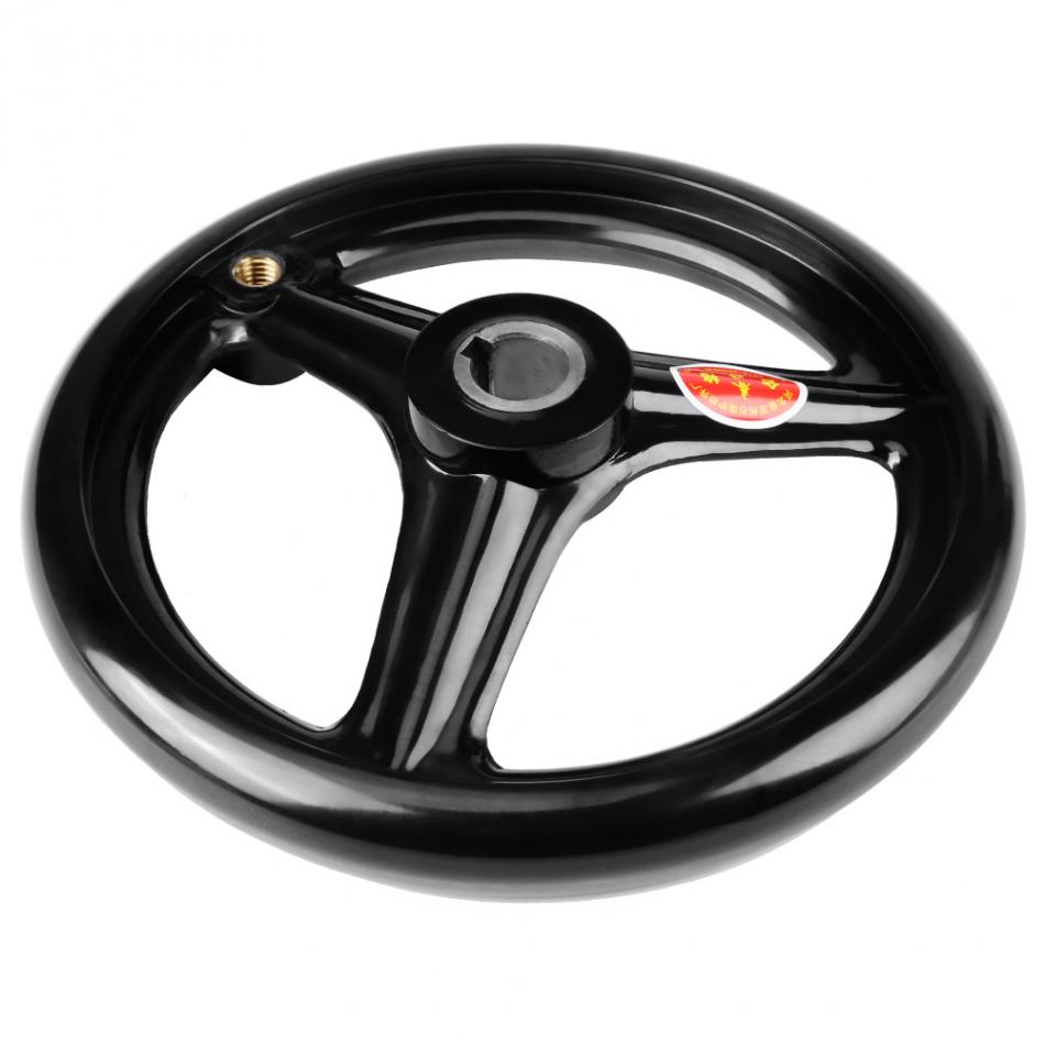 Sizes 3 Spoke Hand Wheel Black with Revolving Handle for Milling Machine