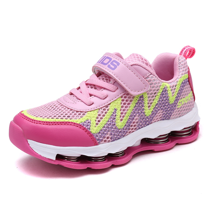 CSXD Youth Child Boys Girls Mesh Jogging Shoes Spring Shock Absorption Sneakers 4 Season Sport Running Footwear 2017 QTX New 2016 spring child sport shoes leather boys shoes girls wear resistant casual shoes