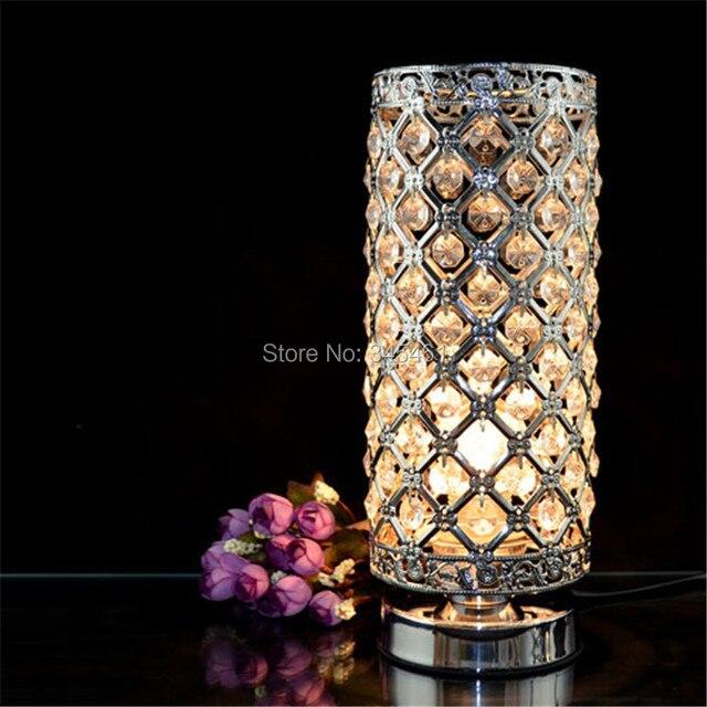 Современные Прикроватные лампы Luminaria-де-меса Творческой кристалл lampara scrivania Спальня настольная лампа Отель Decro Настольная лампа abajour