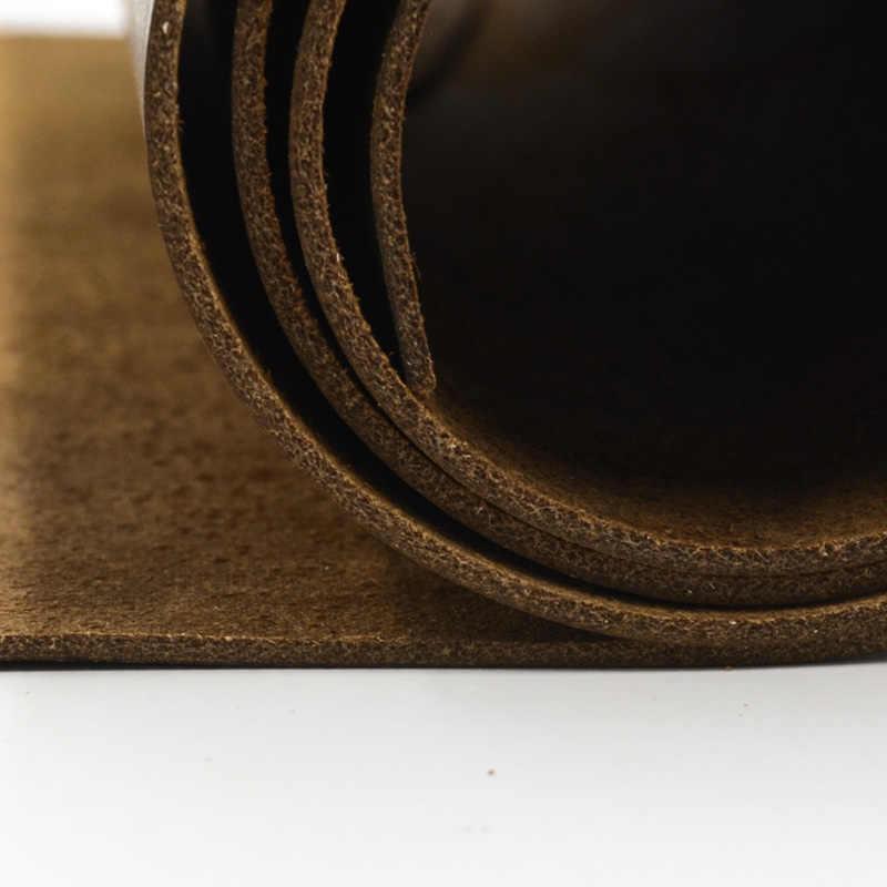 Doğal deri inek deri çılgın at deri renk hakiki deri İğne kemer kaliteli birçok boyutu renk kahverengi