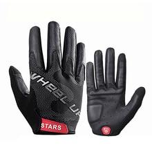Fuld finger berøringsskærm Cykelhandske Anti-slip MTB Cykelhandsker Outdoor Sport Stødsikker Handsker til Mænd Kvinder