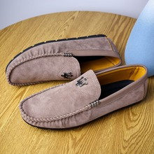 British Trendy leisure driving shoes New Mens Designer Lazy Slip-on Loafers Shoes Casual Fashionable Sneakers