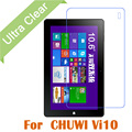 """5pcs/lot Clear HD Glossy LCD Screen Protector For Chuwi Vi10 Tablet PC 10.6"""" Transparent Screen Protective Film +cloth"""