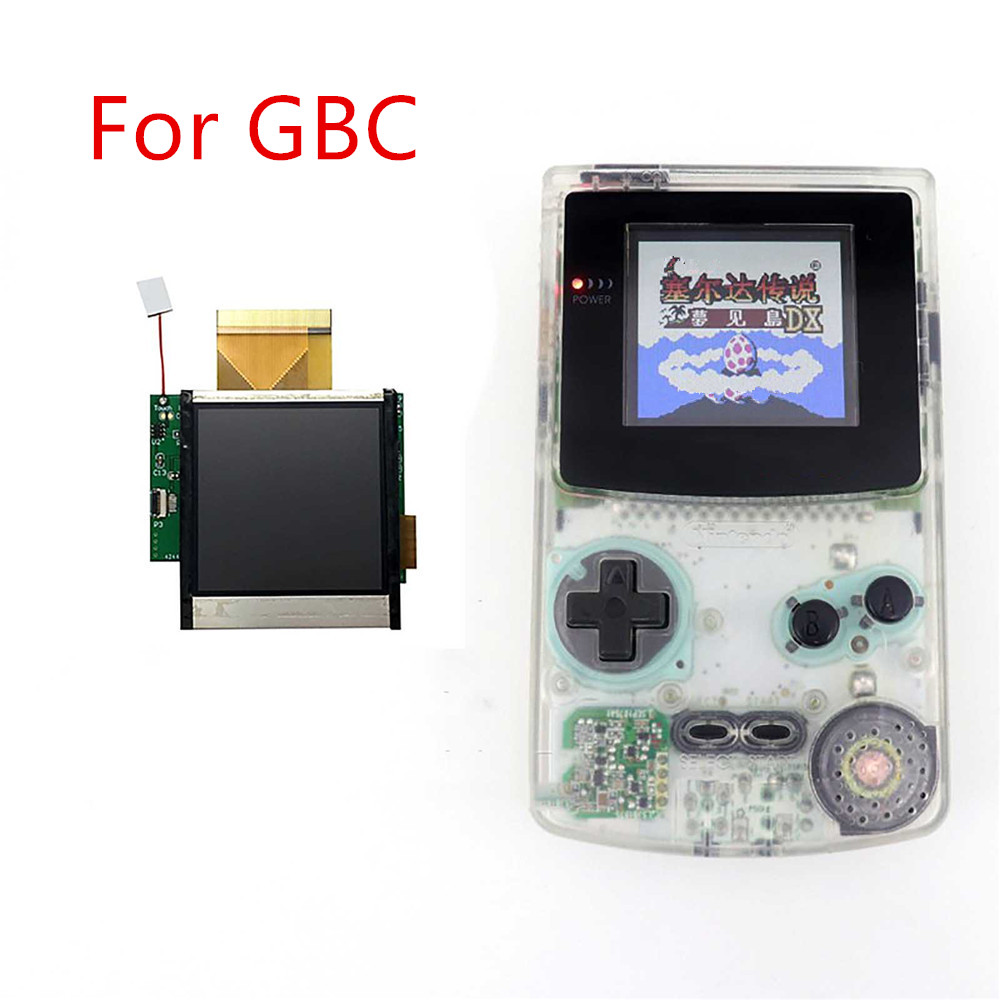 For Nintend GBC High Light Screen LCD Modification Kit Replacement Accessories For GBC 5 Segments Adjustable