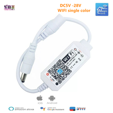 Bezprzewodowy kontroler RGB RGBW do 5050 WS2811 WS2812B DC 5 12 24 V bluetooth WiFi podczerwień sterownik LED tanie tanio SAGE LU MEI CN (pochodzenie) Bluetooth WiF Magic Home Mini Bluetooth WiFi LED Controller Wireless Bluetooth WiFi Control IOS Android