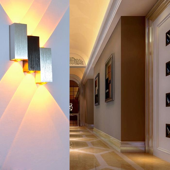 6W Sipërfaqja Sconce e montuar Llambë LED mur brenda shtëpie - Ndriçimit të brendshëm - Foto 2