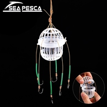 SEAPESCA Fishhooks Fishing Deal with Sea Field Monsters with Six Robust Carbon Metal Carp Fishing Lure Feeder Jig equipment JK456