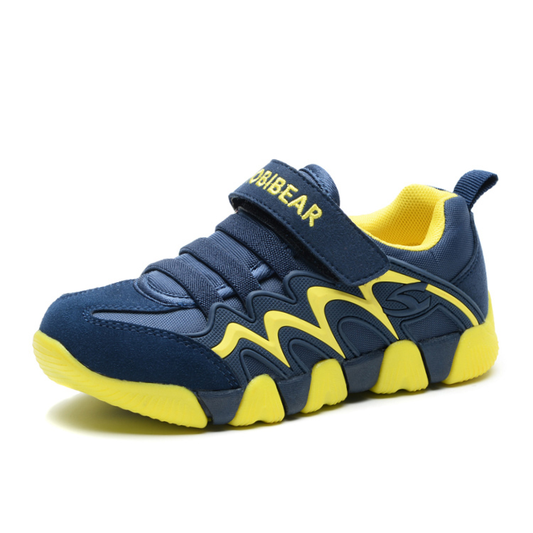 Kid Running Shoes Boys Girls Sneaker Fabric Suede Breathable Comfortable Children Outdoor Hook$loop Footwears kelme 2016 new children sport running shoes football boots synthetic leather broken nail kids skid wearable shoes breathable 49