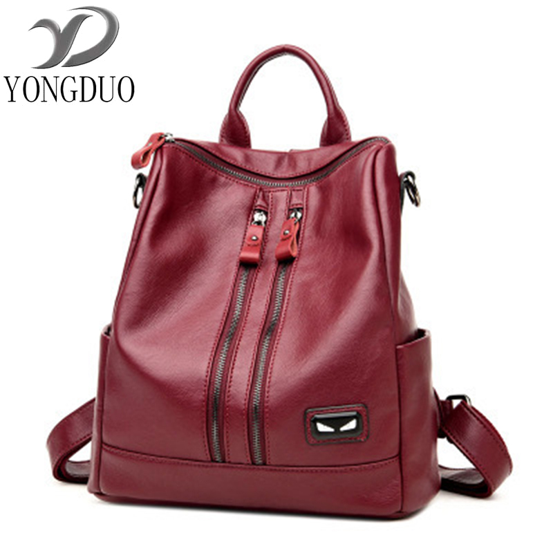 Women Backpack High Quality PU Leather Mochila Escolar School Bags For Teenagers Girls Top-Handle Large Capacity Student Package 2018 new backpack school bags for teenagers girls bag women backpack top handle backpacks pu leather mochila escolar travel bags