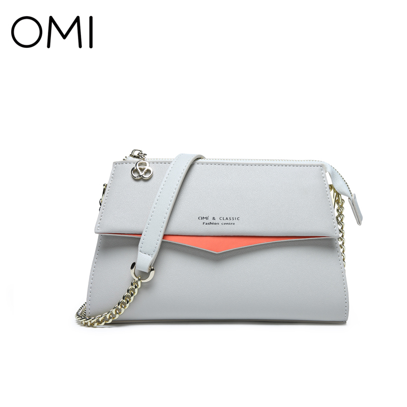 OMI Women's bag Women's leather Messenger bags Female's handbag famous designer brand bags luxury Shoulder bag Flap 2017 New