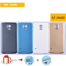 For Samsung Galaxy S5 i9600 G900F G900H SM-G900F G900 Housing Battery Cover Back Cover Case Rear Door Chassis Shell S5 Cover цена и фото