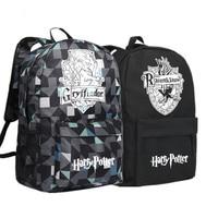 2017 New Harry Potter HOGWARTS Gryffindor Hufflepuff Ravenclaw Slytherin School Bags Canvas Printing Backpack Mochila Women