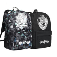 2017 New Harry Potter HOGWARTS Gryffindor Hufflepuff Ravenclaw Slytherin School Bags Canvas Printing Backpack Mochila Women
