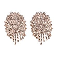 JUJIA Top Brand Luxury Dangle Earrings Crystal Drop Earrings Women Big Maxi Earrings Jewelry Accessories