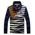 Горячая продажа 2017 осень сша мужчины camisas поло masculino Tace & Акула Осень зима с длинным рукавом поло рубашки бренд-одежда