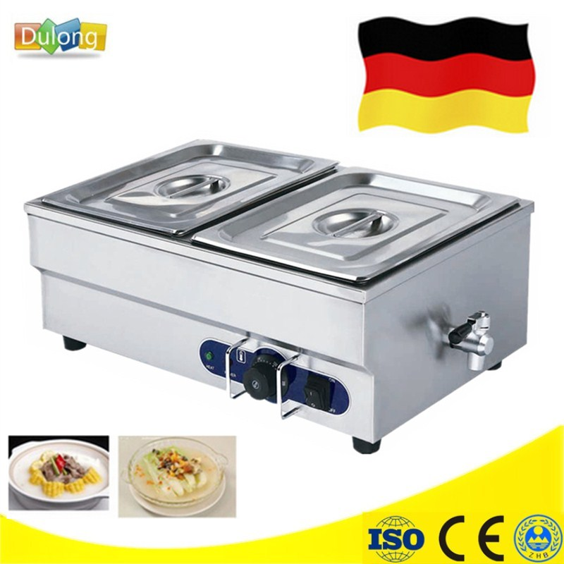 Newest Electric Stainless Steel Hot Food Warmer Buffet Server Bain Marie Kitchen Equipment High Quality Kitchen Equipment fast food leisure fast food equipment stainless steel gas fryer 3l spanish churro maker machine