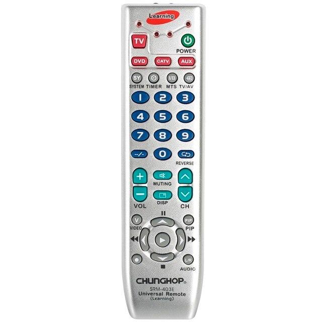 Universal Fernbedienung Lernen Fernbedienung Für TV/SAT/DVD/CBL/DVB T/AUX Kopie Russische englisch Manuelle Chunghop SRM 403E