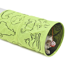 Super nice cat tunnel with hanging toy ball