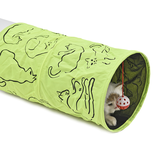 Cat Tunnel With Hanging Toy