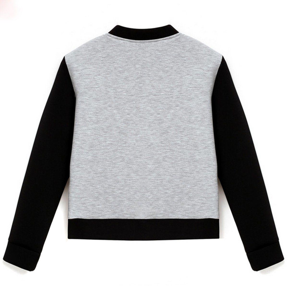 Atutmn winter Women basic coats bomber jacket Long Sleeve Stand Collar pullover Tops Jacket Short Coat Outwear chaquetas mujer