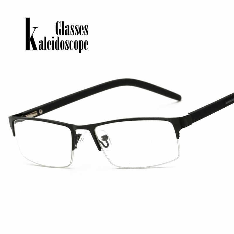115cbf2e3e Kaleidoscope Glasses Reading Glasses Men Women Elderly Metal Half Frame  Hyperopia Eyeglasses With Prescription Read Eyewears