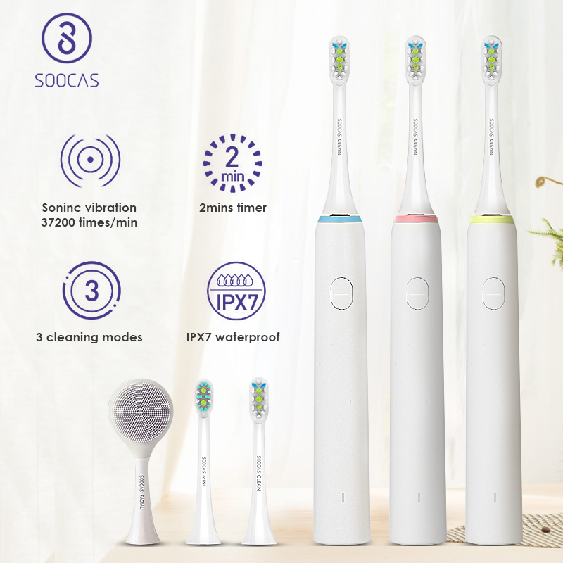 SOOCAS X1 Sonic Electric Toothbrush for Xiaomi Mijia Soocare Adult Ultrasonic Tooth Brush USB Rechargeable Toothbrush 3 Modes-in Electric Toothbrushes from Home Appliances