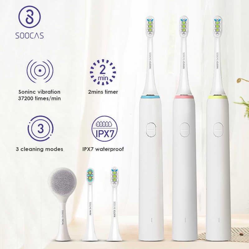 SOOCAS X1 elektryczna soniczna szczoteczka do zębów dla Xiaomi Mijia Soocare dla dorosłych Ultra sonic szczotka do zębów USB akumulator szczoteczka do zębów 3 tryby