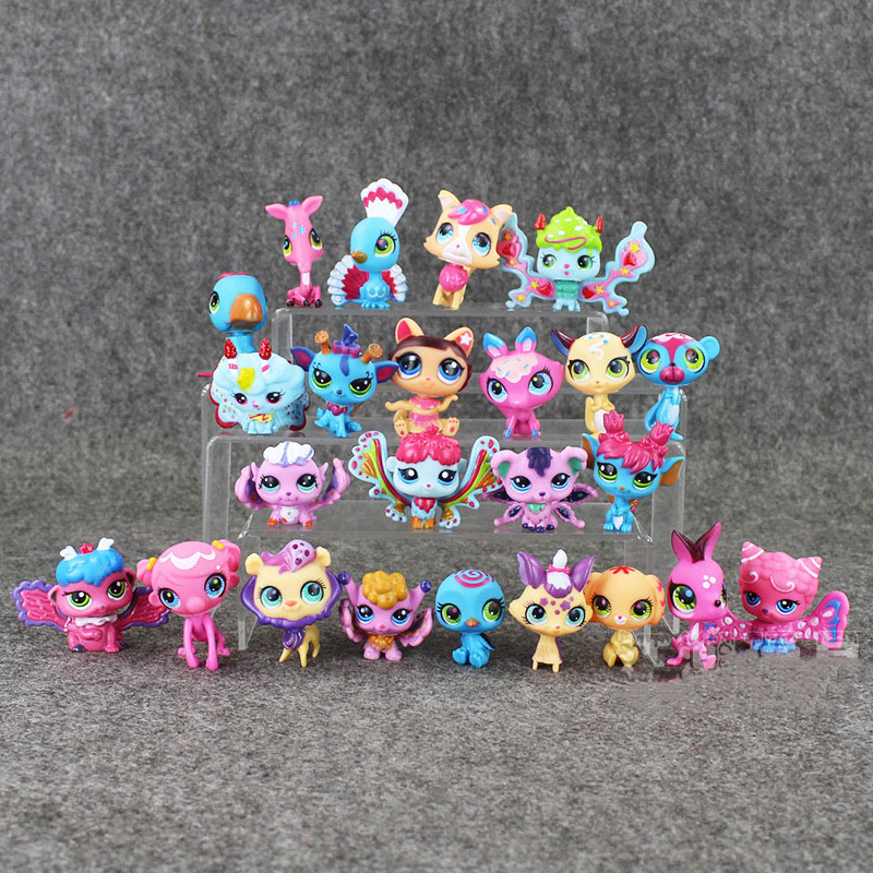 24pcs/12pcs Little Pet Action Figure Toys Anime figure Toy Animal Cat dog Figures Kids toys dolls lps lol brinquedos Gifts