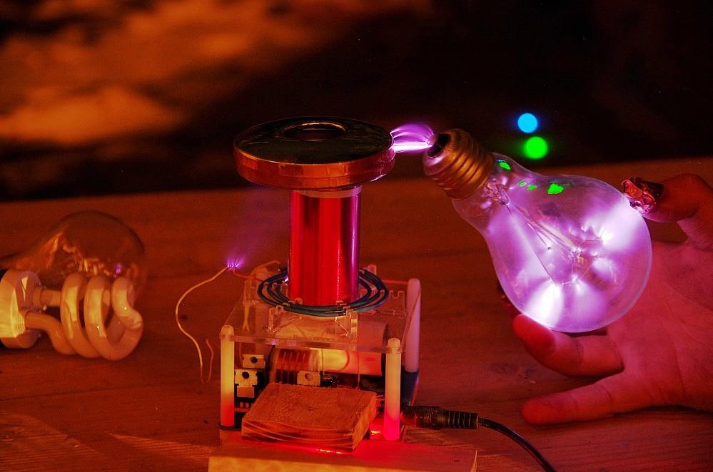 Micro tesla bobine CSTG éclateur tesla coil DIY Kits science physique jouet - 2