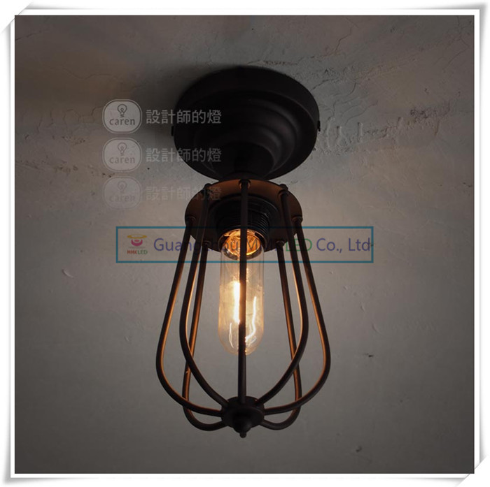 ФОТО Vintage European rural countryside Creative Arts iron ceiling lamps lighting living room bedroom E27