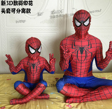 Newest spiderman costume 3D Printing spider-man costumes cosplay spandex zentai suit