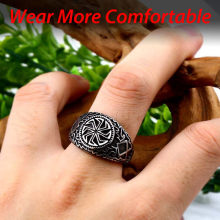 steel solider Viking Celtic solar symbol wheel ring amulet stainless steel nordic slavic pagan jewelry(China)