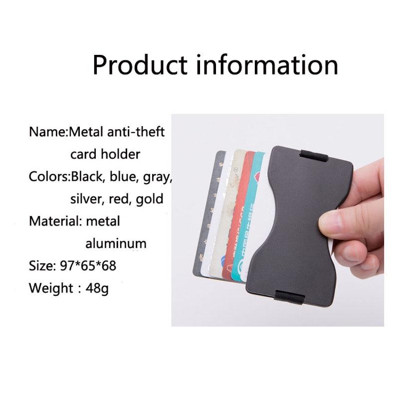 2019 New Slim Business Men's Card Pack Credit Card Holder Bank Metal check sleeve Gifts dedicated Antimagnetic id card holder