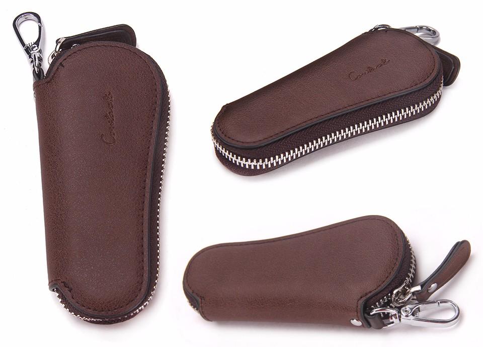 محفظة مفاتيح للرجال من الجلد الطبيعي 16
