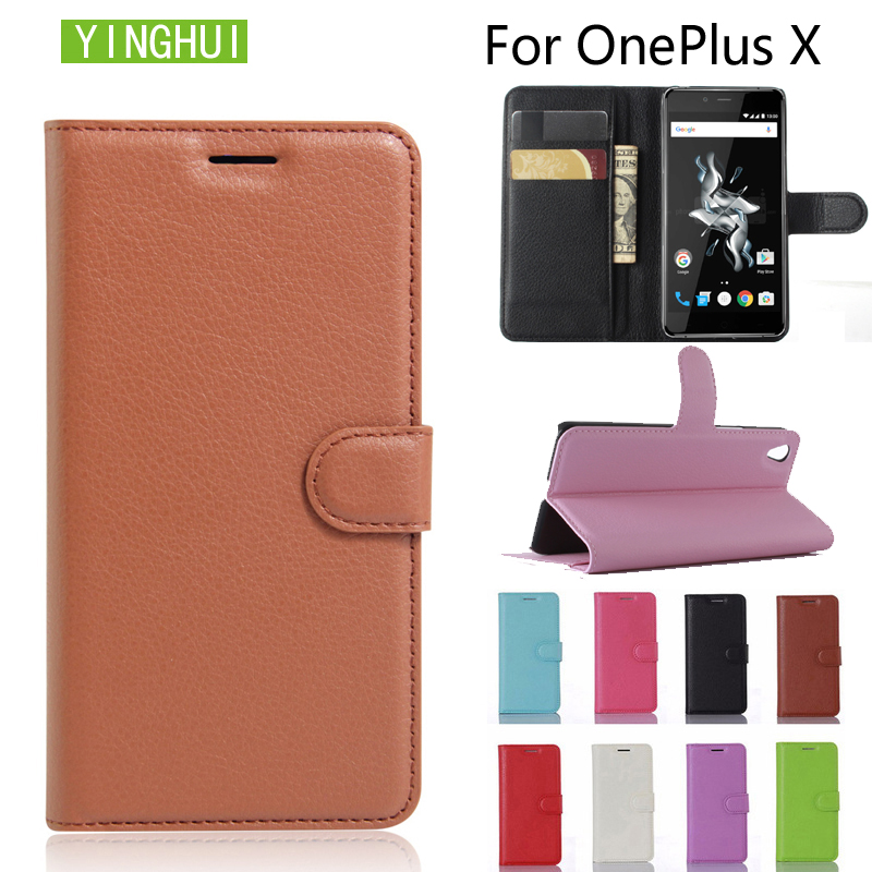 YINGHUI For OnePlus X One Plus X / E1001 Case Flip Luxury PU Leather cover Phone Case For OnePlus X One Plus X / E1001 5.0