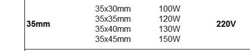 35 мм Внутренний Диаметр литьевая форма Нагревательный элемент 50/55/60 мм высота керамический ленточный нагреватель для электронного