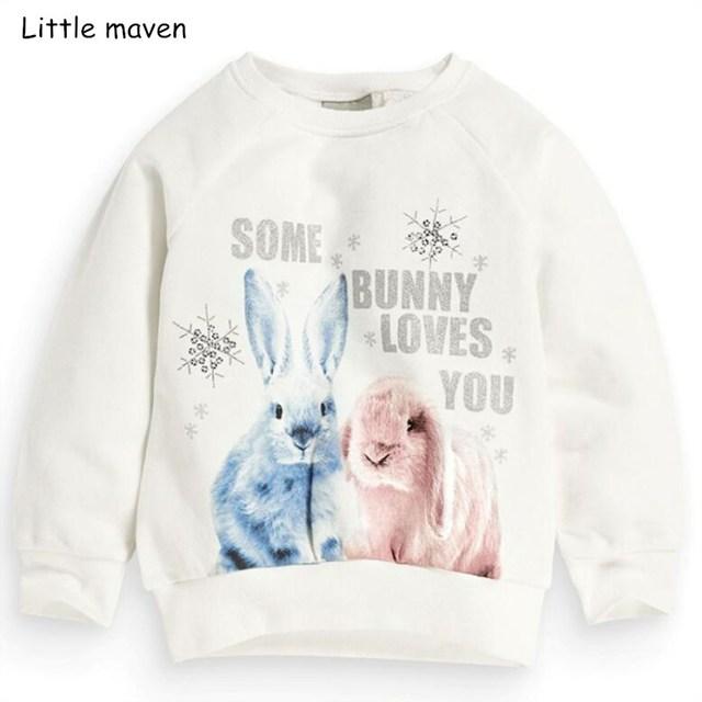 9319fc89002a8 Little maven children brand baby girl clothes 2018 autumn new design girls  cotton tops bunny print