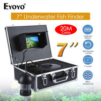 EYOYO 7 Inch 360 Degree Underwater Fishing Camera Fish Finder Infrared LED HD 1000TVL With 20M
