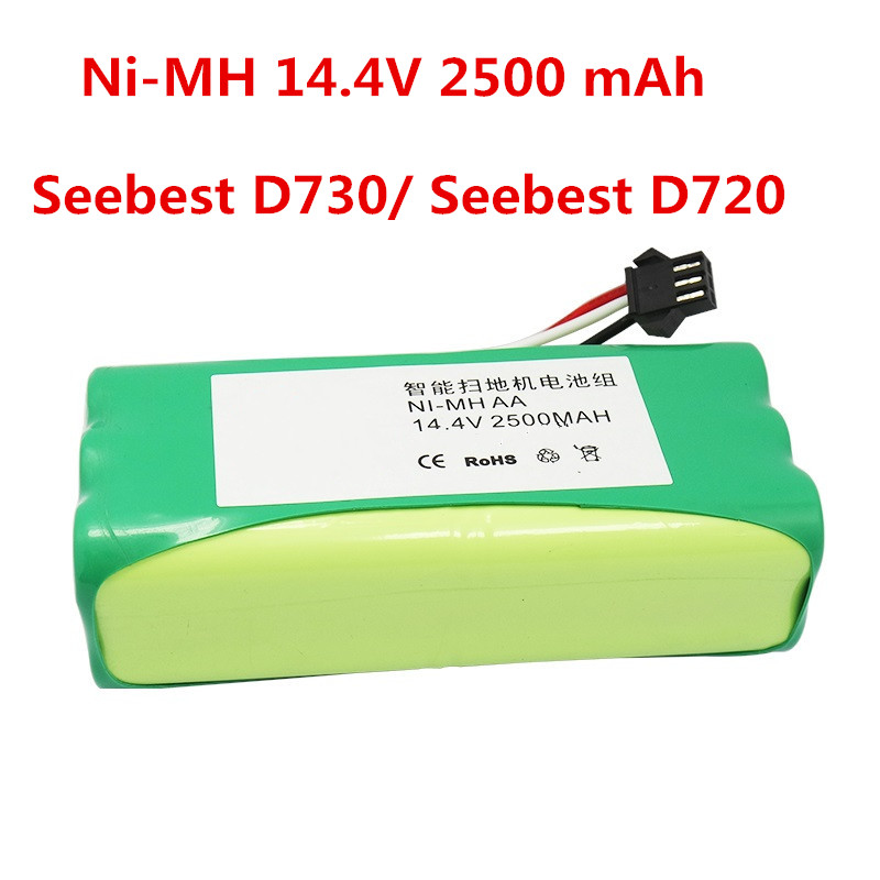 лучшая цена Ni-MH 14.4V 2500 mAh Battery replacement for Seebest D730 Seebest D720 robot Vacuum Cleaner Parts