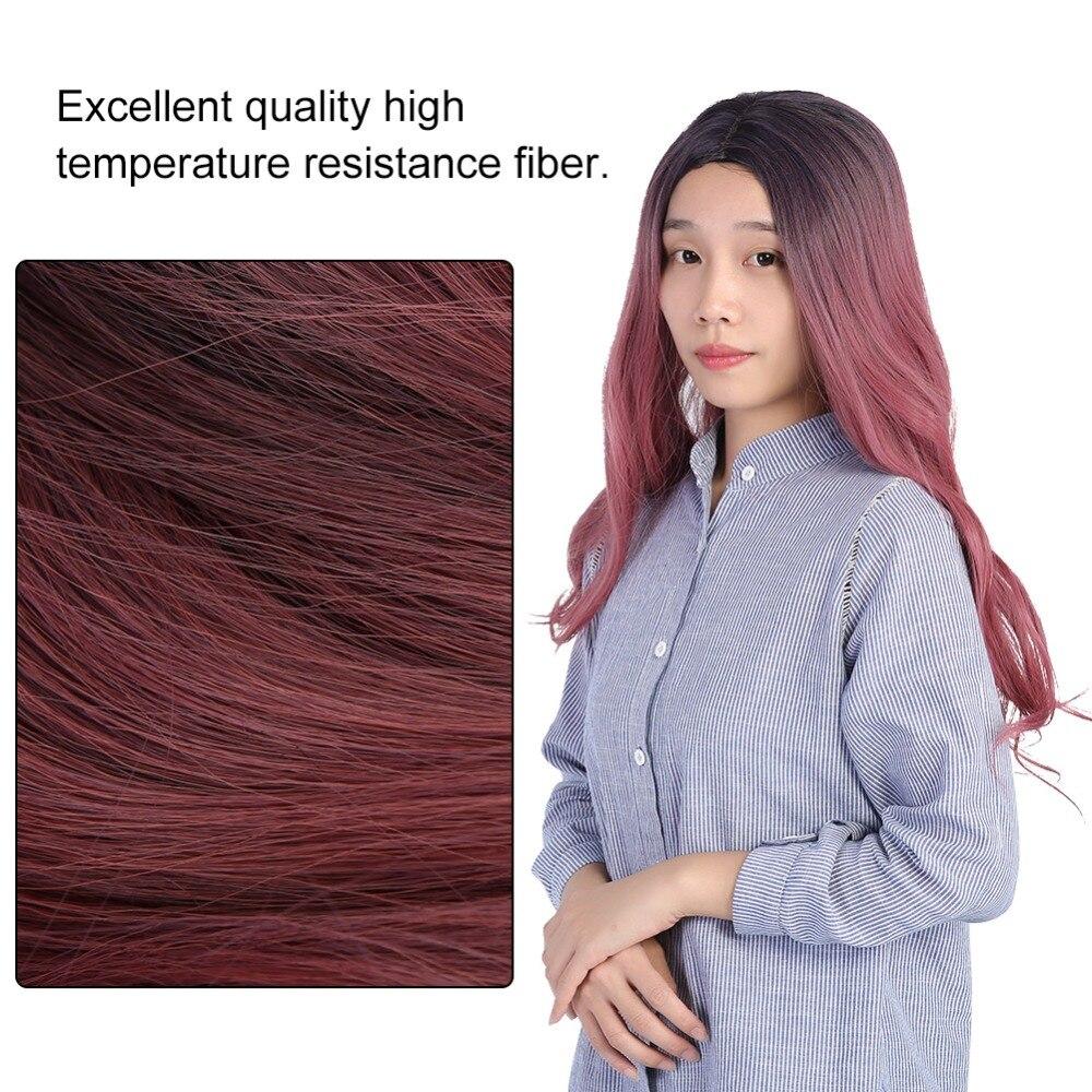 Instancabile Parrucca Delle Donne Lungo Rosa Ondulata Capelli Sintetici Resistenti Al Calore Cosplay Parrucca Riccia