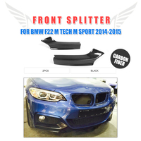 Carbon Fiber Front Bumper Lip Side Splitter Flaps Cupwings for BMW M235i M240i F22 M Sport Coupe / Convertible 2014 2017