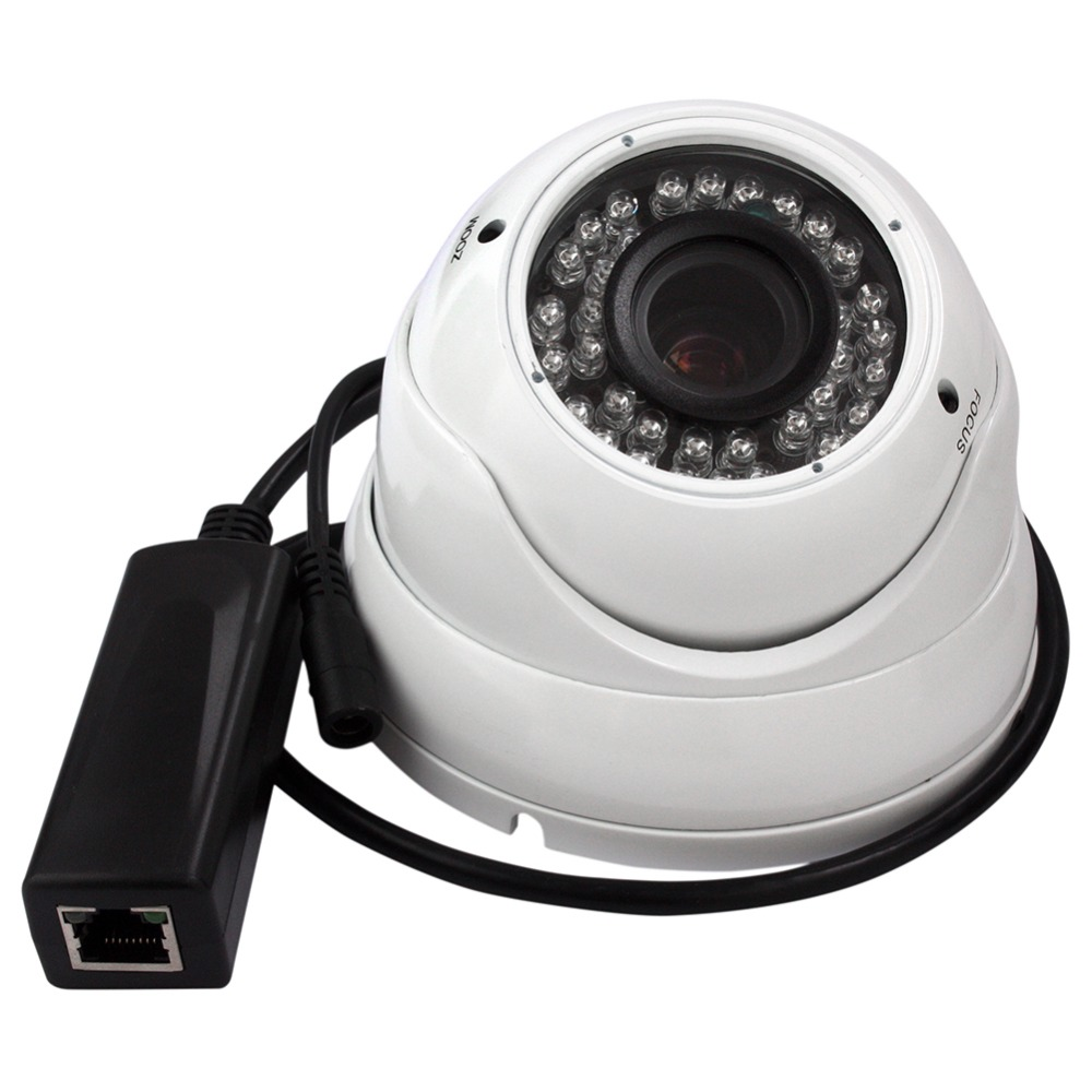 720P HD  Onvif H.264 p2p manual zoom Varifocal 2.8-12mm infrared ir network security Webcam POE dome ip camera outdoor favourite подвесная люстра favourite honey 1904 4p