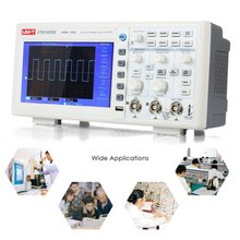 UTD2102CEX Oscilloscope USB OTG Interface Oscillometer 2CH 100MHz 1GS/s Digital Storage Oscilloscopes 7 inches TFT LCD Display 1pc dso1200 handheld portable usb oscilloscope scope dmm 200 mhz 500msa s 5 7 2ch