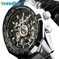 Splendid Hot 2016 Luxury Brand Luxury Sport Men Automatic Skeleton Mechanical Military Watch Men Full Steel