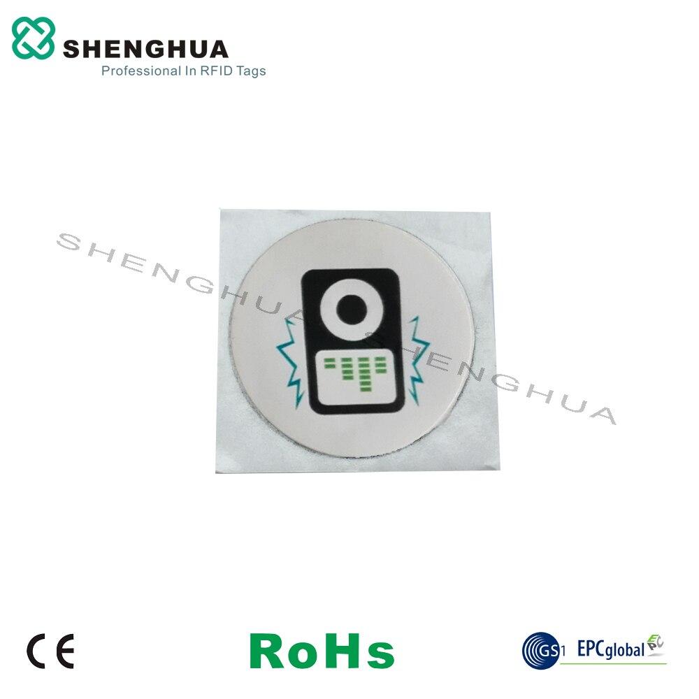 6pcs/lot Cheap Factory Price Mini Passive NFC Tag Small RFID HF Sticker Tags 13.56MHz Waterproof NFC PET Logo Printed Tag