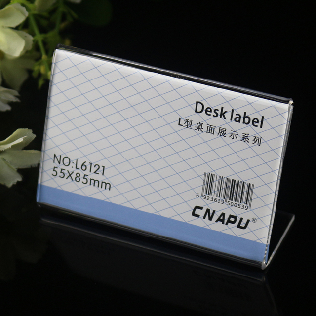 55 85mm customized small size clip name tags pmma transparent t