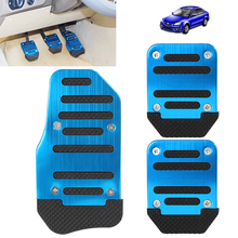 Coolful Brake Pedal Aluminium Alloy Non-slip Pedal Foot Brake Cover for Cars