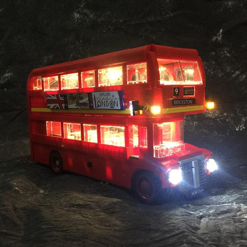 JULITE HA CONDOTTO LA Luce Kit (solo la luce incluso) per lego CREATOR EXPERT 10258 Compatibile con 21045 London bus mattoni set
