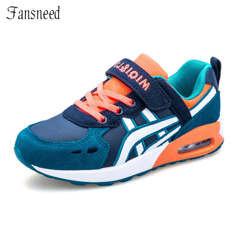 Autumn Boys And Girls Casual Sports Shoes Children s Mixed Colors Breathable Anti skid Cushion Sneaker